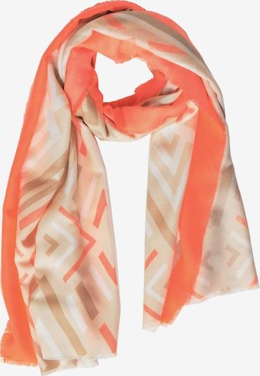 STREET ONE Schal in camel / brokat / koralle / weiß, Produktansicht