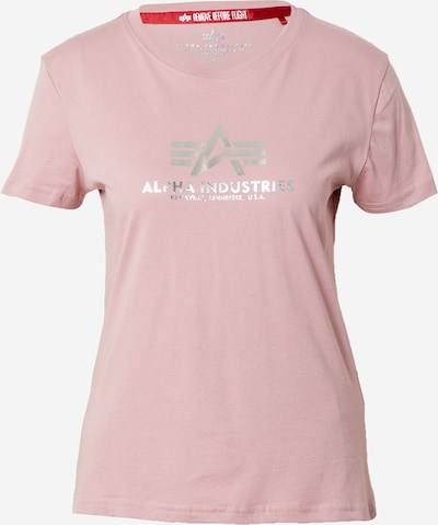 ALPHA INDUSTRIES Camiseta en rosa claro / plata, Vista del producto