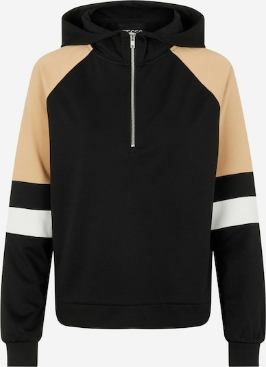 PIECES Sweatshirt in beige / schwarz / weiß, Produktansicht