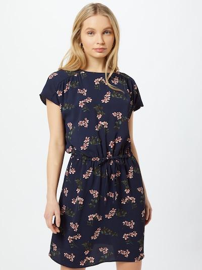 VERO MODA Kleid 'Sasha Bali' in navy / oliv / smaragd / altrosa / weiß, Modelansicht