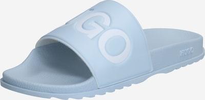 HUGO Muiltjes 'Match Slid' in de kleur Smoky blue / Wit, Productweergave