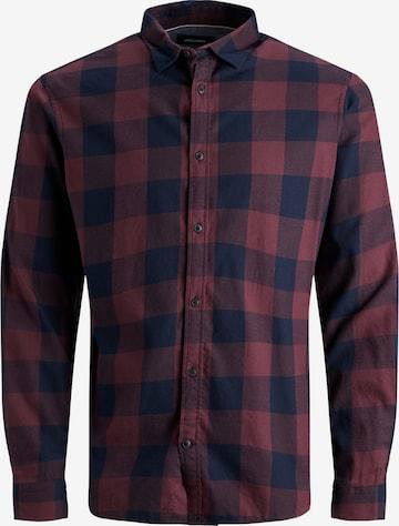 Jack & Jones Plus Hemd 'Gingham' in Rot