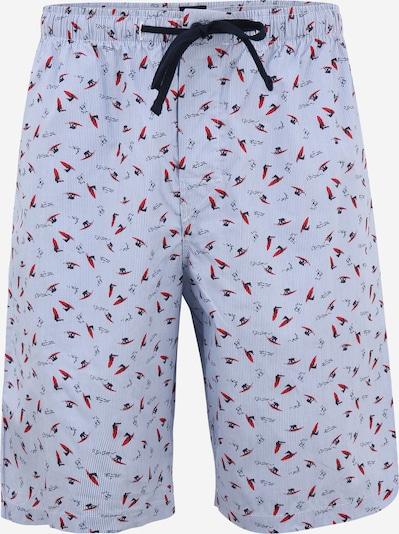 SCHIESSER Spodnie od piżamy w kolorze niebieska noc / jasnoniebieski / czerwonym, Podgląd produktu