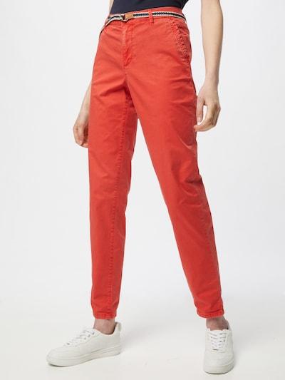 ESPRIT Pantalon chino en rouge orangé, Vue avec modèle