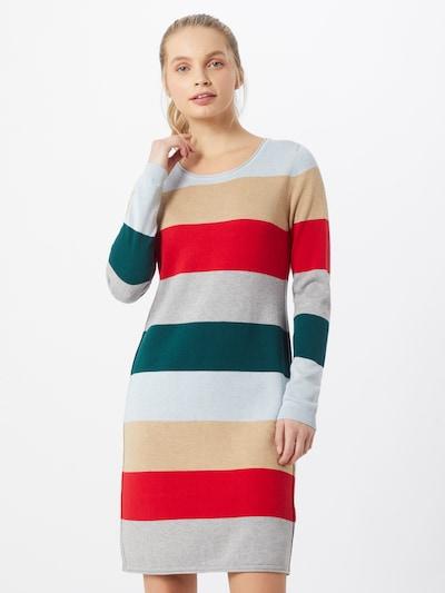 bézs / szürke / zöld / piros EDC BY ESPRIT Kötött ruhák, Modell nézet