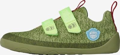 Affenzahn Barfußschuh 'Drache' in grün / kiwi, Produktansicht