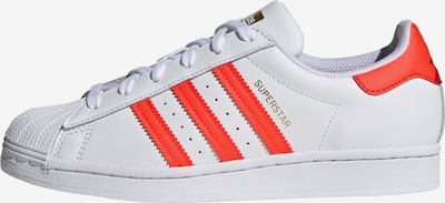 ADIDAS ORIGINALS Sneaker 'SUPERSTAR' in gold / hellrot / weiß, Produktansicht