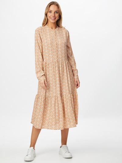 OPUS Kleid 'Werani' in pastellgelb / pfirsich / schwarz, Modelansicht