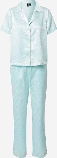 VERO MODA Pyjama 'NINA' in creme / hellblau / weiß, Produktansicht