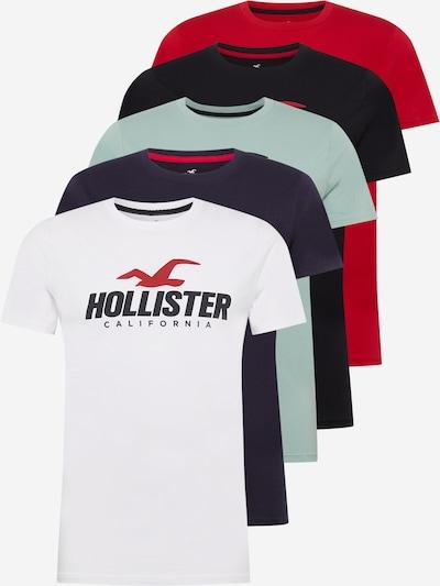 HOLLISTER Tričko - námornícka modrá / mätová / červená / čierna / biela, Produkt