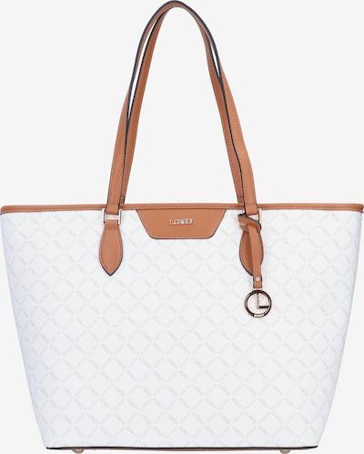 L.CREDI Shopper 'Filiberta' in braun / weiß, Produktansicht
