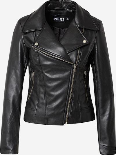 PIECES Jacke in schwarz / silber, Produktansicht