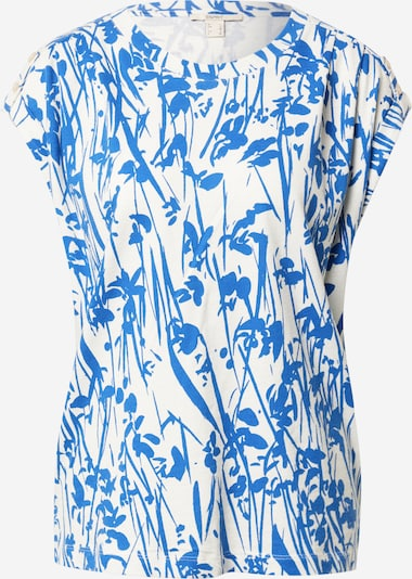 ESPRIT T-shirt en bleu clair / blanc: Vue de face
