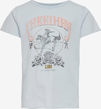 KIDS ONLY Тениска в светлосиньо / бледорозово / черно / бяло, Преглед на продукта