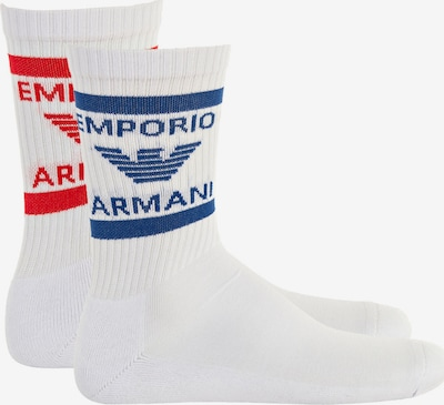 Emporio Armani Sokken in de kleur Blauw / Rood / Wit, Productweergave