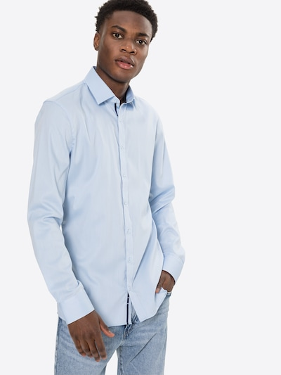 OLYMP Бизнес риза 'No 6' в светлосиньо: Изглед отпред