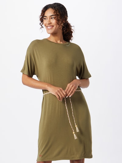 Ragwear Kleid 'KASS' in oliv, Modelansicht
