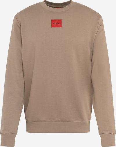 HUGO Sweat-shirt 'Diragol' en marron, Vue avec produit