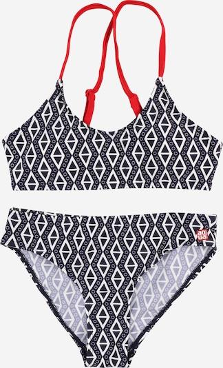 SCHIESSER Bikini in de kleur Donkerblauw / Watermeloen rood / Wit, Productweergave