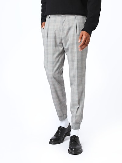 Pantaloni cutați 'Fento' HUGO pe gri / gri deschis / roșu, Vizualizare model