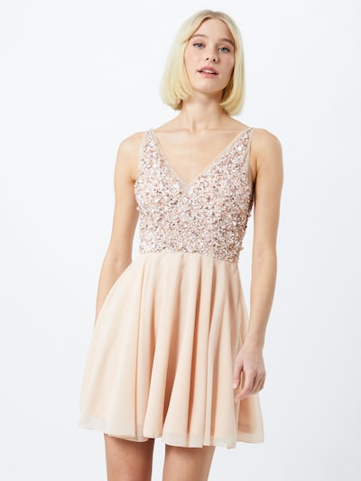 LACE & BEADS Kleid 'Talia' in nude / silber, Modelansicht