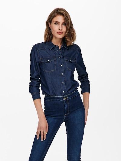 Bluză 'ROCK IT' ONLY pe albastru denim, Vizualizare model