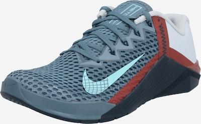 NIKE Sportske cipele 'Metcon 6' u sivkasto plava / azur / crvena / bijela, Pregled proizvoda