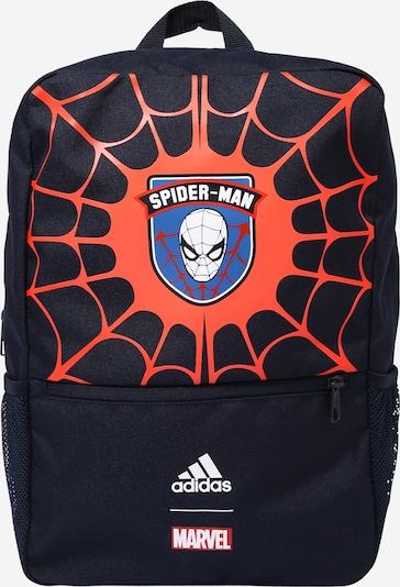 ADIDAS PERFORMANCE Rucksack 'Spiderman' in royalblau / dunkelblau / orangerot / weiß, Produktansicht