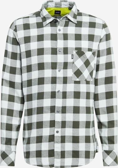 BOSS Overhemd 'Relegant' in de kleur Donkergroen / Wit, Productweergave