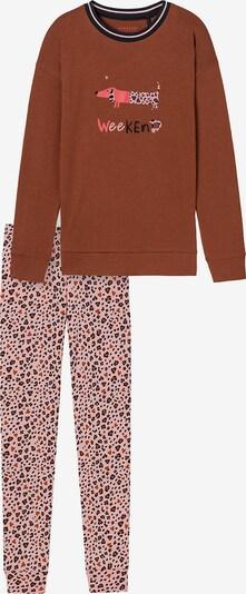 Pijamale SCHIESSER pe maro / mai multe culori / roz deschis, Vizualizare produs