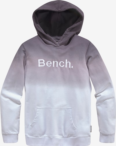 BENCH Kapuzensweatshirt in grau / weiß, Produktansicht