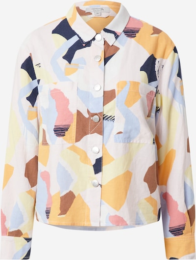 COMMA Blouse in Cream / Navy / Light blue / Brown / Apricot / Pink, Item view