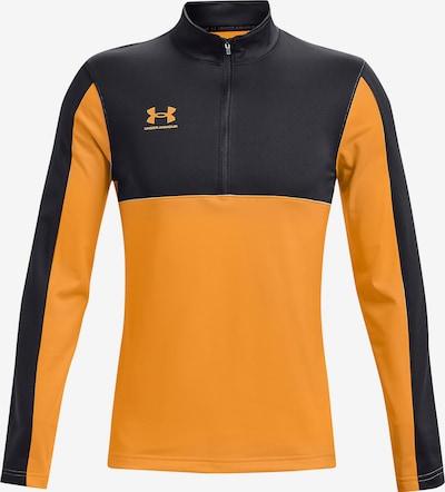 UNDER ARMOUR Functioneel shirt in de kleur Sinaasappel / Zwart, Productweergave