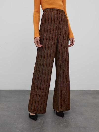 EDITED Nohavice 'Dahlia' - bronzová / čierna, Model/-ka