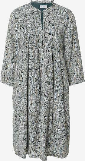 s.Oliver BLACK LABEL Shirt Dress in Light beige / Dark green / White, Item view