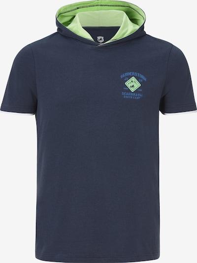 Jan Vanderstorm Shirt 'Thiade' in de kleur Blauw / Marine / Lichtgroen, Productweergave