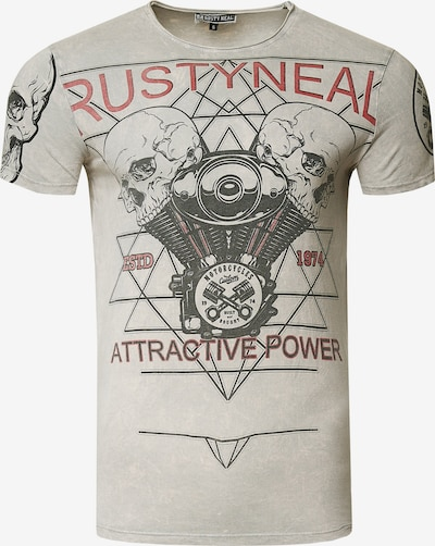 Rusty Neal Cooles T-Shirt mit Front-Print in grau, Produktansicht
