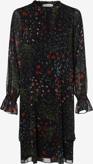 Marie Lund Kleid in blau / grasgrün / dunkelrot, Produktansicht