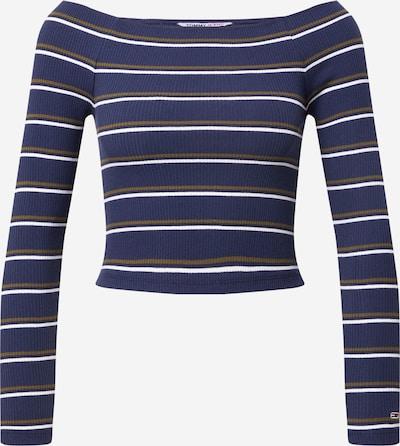 Tommy Jeans Majica u tamno plava / kaki / bijela, Pregled proizvoda