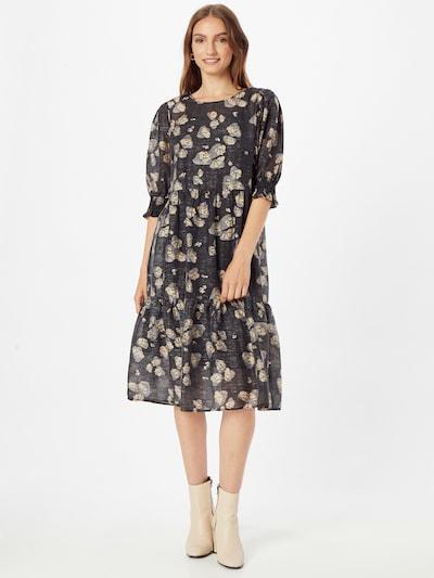 PULZ Jeans Kleid 'LINNEA' in beige / grau / schwarz, Modelansicht