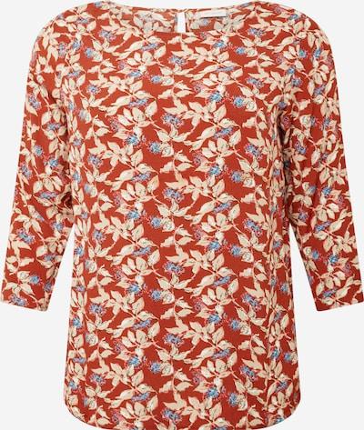 ONLY Carmakoma Shirt 'CARLANA' in beige / hellbeige / rostrot, Produktansicht