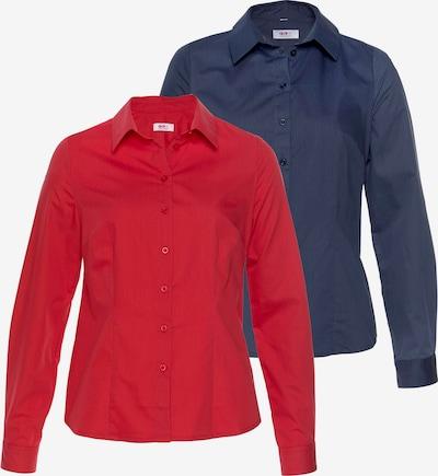 FLASHLIGHTS Bluse in dunkelblau / grenadine, Produktansicht