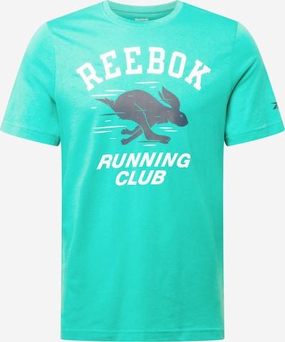 Reebok Sport Функционална тениска в нейви синьо / нефритено зелено / бяло, Преглед на продукта