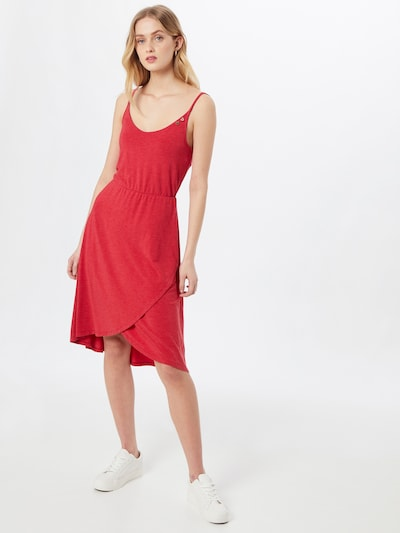 Ragwear Robe d'été 'FINESA' en rouge, Vue avec modèle