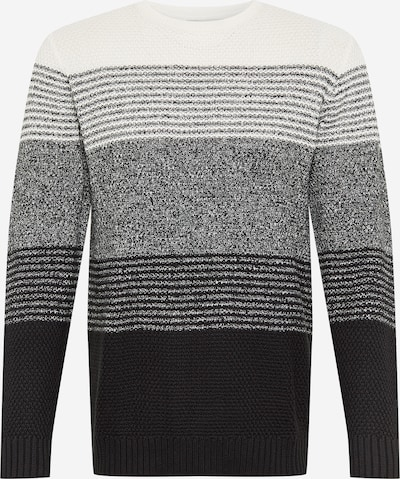 !Solid Džemperis 'Romeo' pelēks / melns / balts, Preces skats