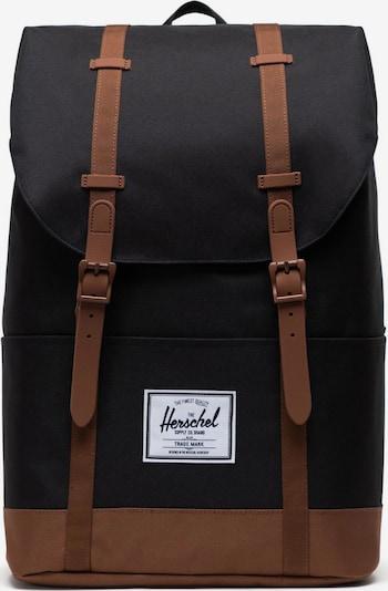Herschel Rucksack in cognac / schwarz / weiß, Produktansicht