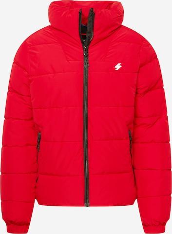 Veste d'hiver Superdry en rouge
