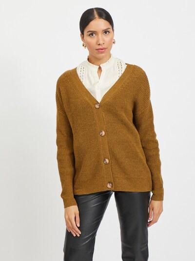 VILA Kardigan 'Oktavi' w kolorze brązowym, Podgląd na modelu(-ce)