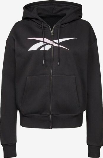 Reebok Sport Sweatjacke in schwarz / weiß, Produktansicht