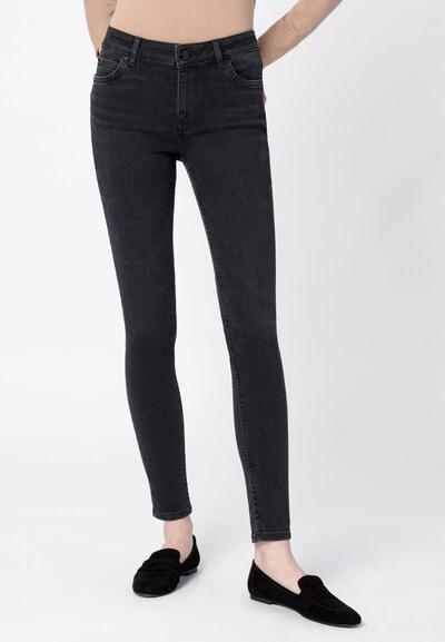 HALLHUBER Skinny MIA aus Candiani Denim in grau / grey denim, Modelansicht